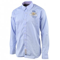 shirt La Martina man Argentina team light blue