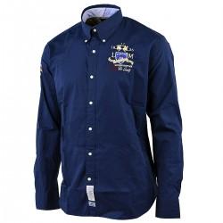 camicia La Martina Uomo Italia Team blu