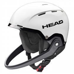 Casco esquí Head Team SL + protector de barbilla blanco