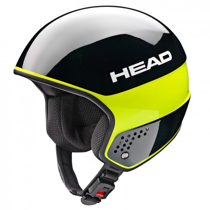 Casco esquí Head Stivot Race Carbon negro-lime