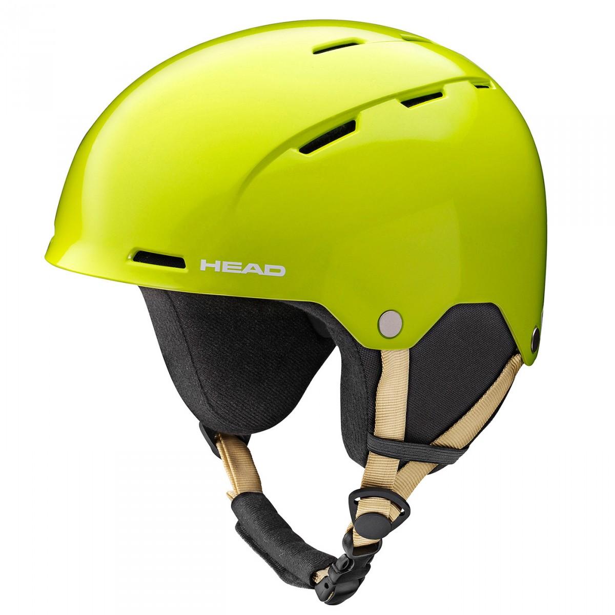 Casco sci Head Tracer giallo (Colore: verde mela, Taglia: 56/58)