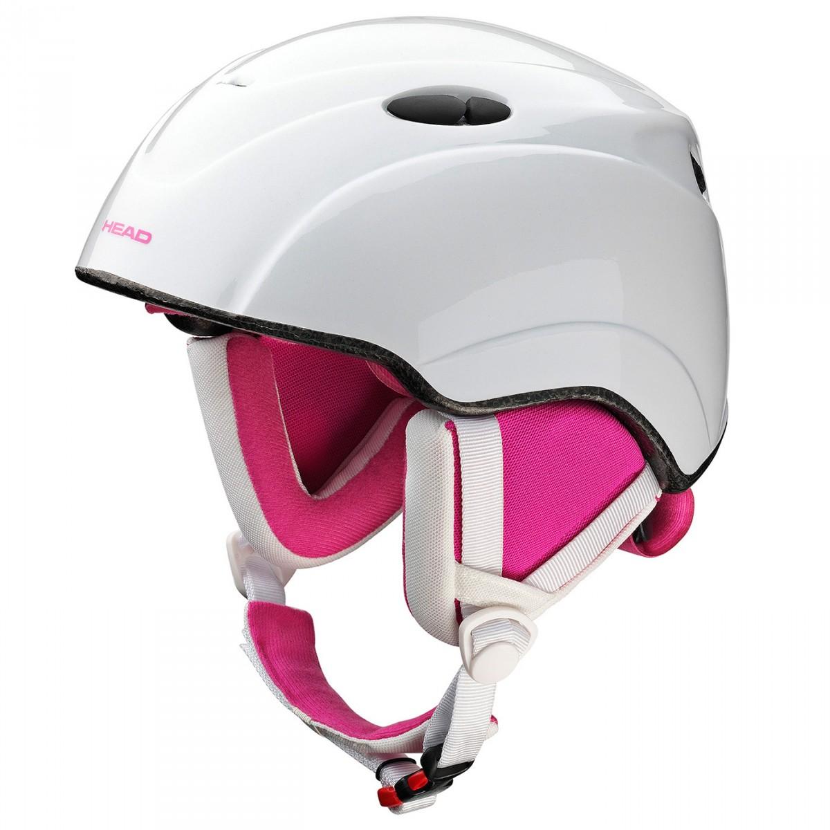 Casco sci Head Star bianco-rosa (Colore: bianco-rosa, Taglia: S/M)