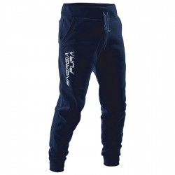 Pantalone felpa Energiapura Skurup blu-bianco