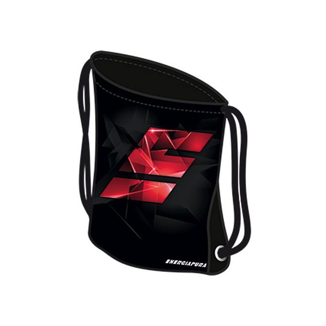 Sacca Energiapura Mini Bag nero-rosso