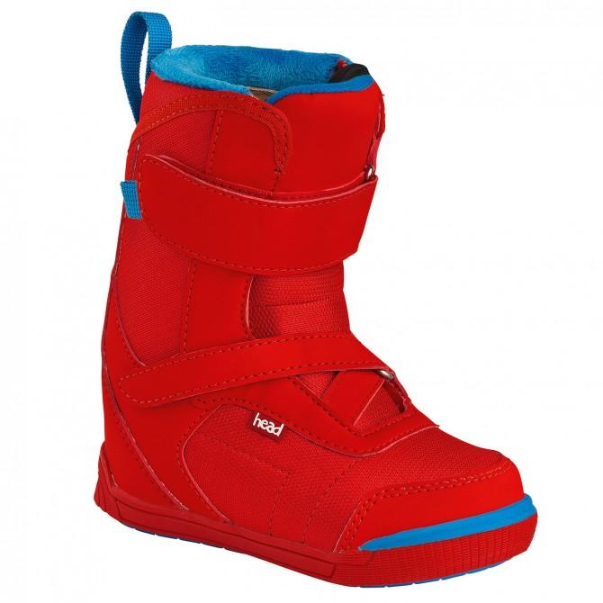 Scarpe snowboard Head Kid Velcro rosso