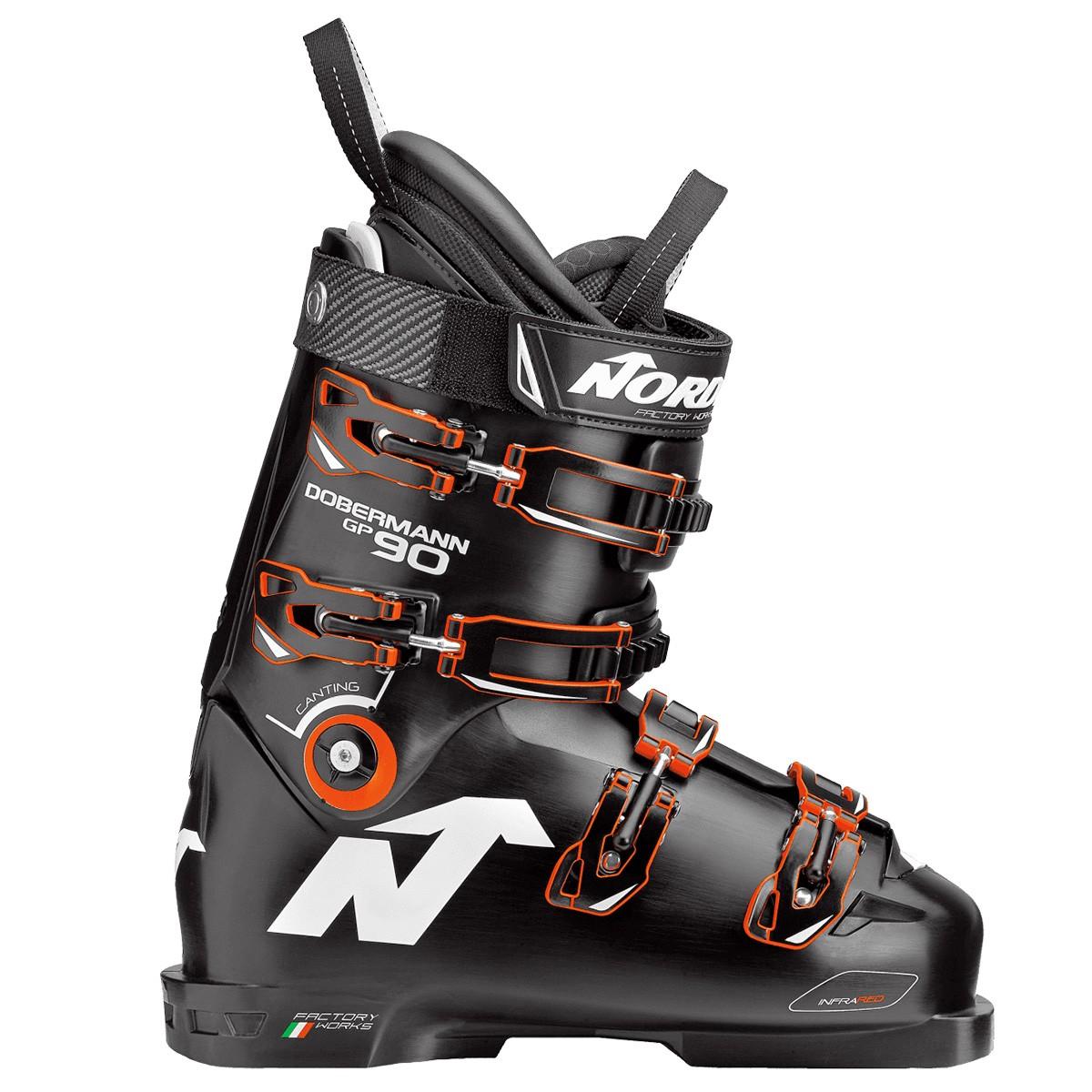 Scarponi sci Nordica Dobermann Gp 90 (Colore: nero-arancione, Taglia: 24)