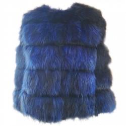 Short fur jacket Mpd Box Woman blue