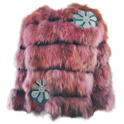 Short fur jacket Mpd Box Woman pink