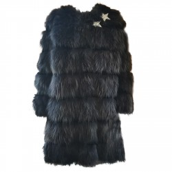 Giaccone lungo pelliccia Mpd Box Donna grigio