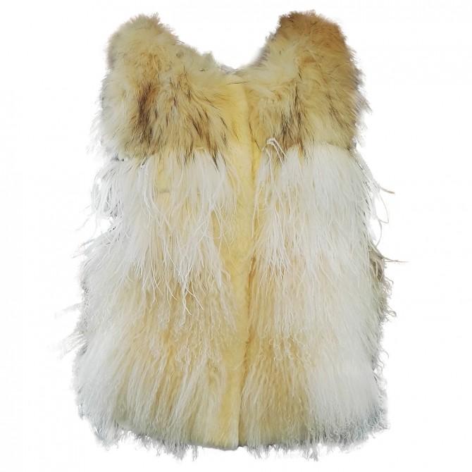 Fur vest Mpd Box Woman cream
