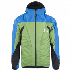 Mountaineering jacket Montura Trident Man green-light blue