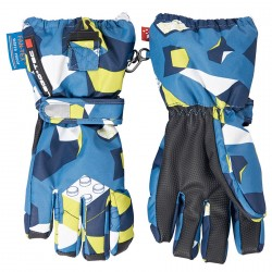 Ski gloves Lego Alexa 772 Junior blue-yellow