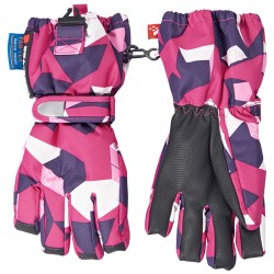 Ski gloves Lego Alexa 772 Girl fuchsia-white