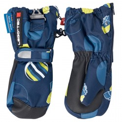 Ski mittens Lego Adele 771 Junior blue-yellow