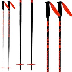 Bâtons ski Rossignol Stove noir-rouge