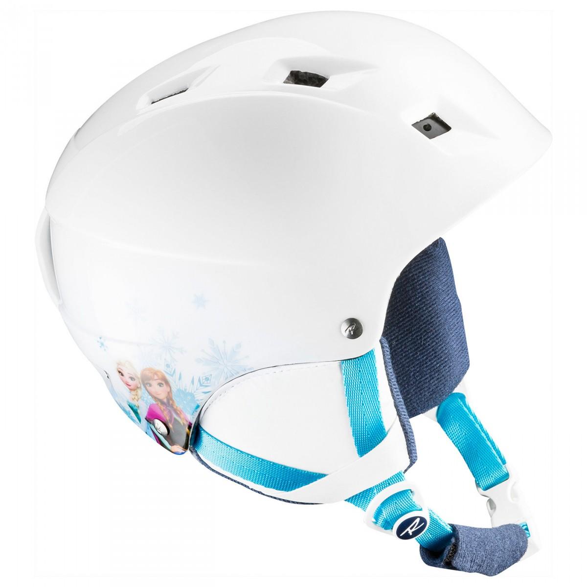 Casco sci Rossignol Comp J Frozen (Colore: bianco-azzurro, Taglia: 49/52)