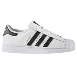 Sneakers Adidas Superstar Foundation Junior blanc-noir