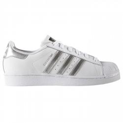 Sneakers Adidas Superstar Femme blanc-argent