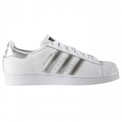 Sneakers Adidas Superstar Mujer blanco-plata