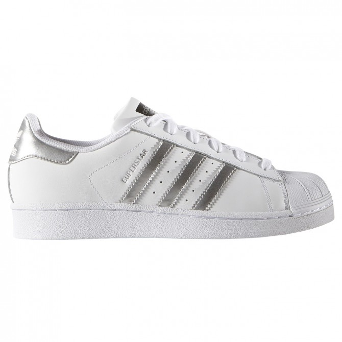 Sneakers Adidas Superstar Femme blanc-argent