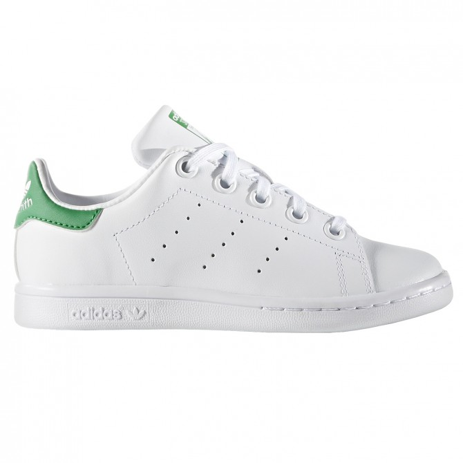 Sneakers Adidas Stan Smith Junior bianco-verde (28-31) ADIDAS Scarpe moda