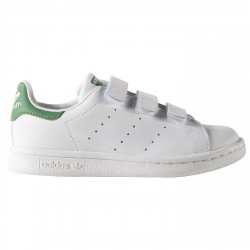 Sneakers Adidas Stan Smith Junior avec velcro blanc-vert