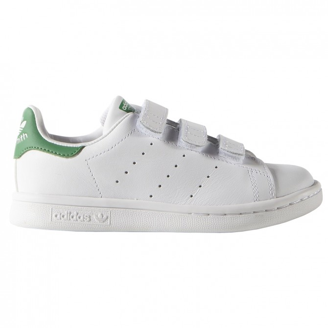 size 40 a97a1 a2455 Sneakers Adidas Stan Smith Junior with velcro white-green
