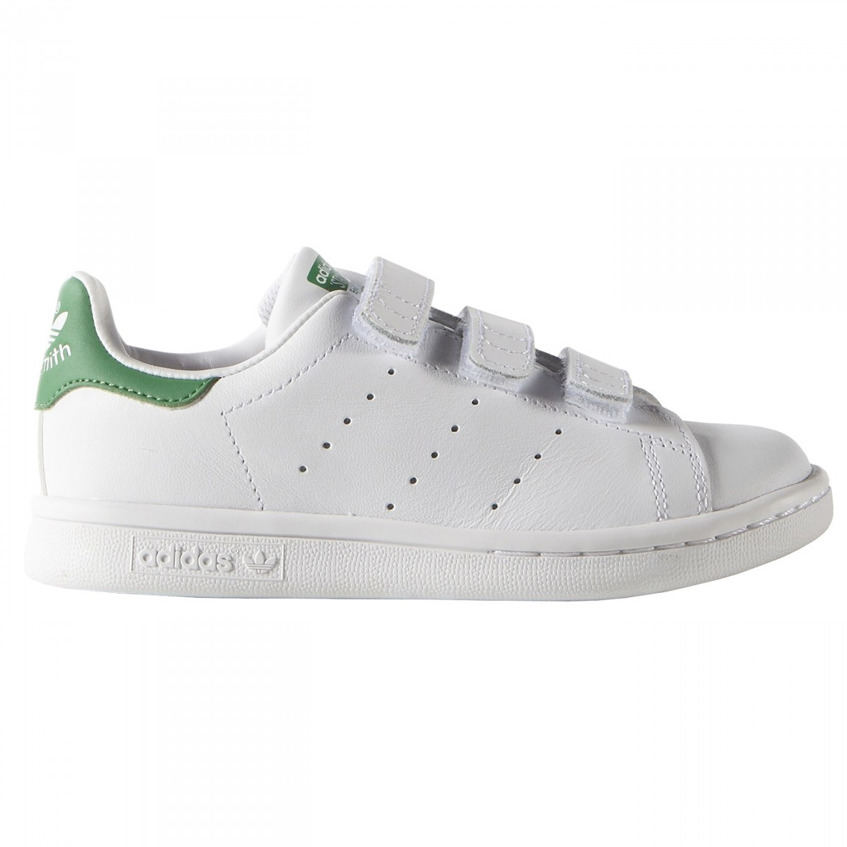 Sneakers Adidas Stan Smith Junior with velcro white-green