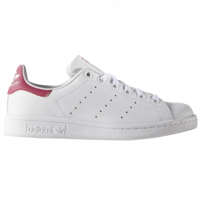 Sneakers Adidas Stan Smith Girl blanc-rose