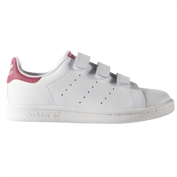 brand new d1a3b f32af Sneakers Adidas Stan Smith Girl with velcro white-pink