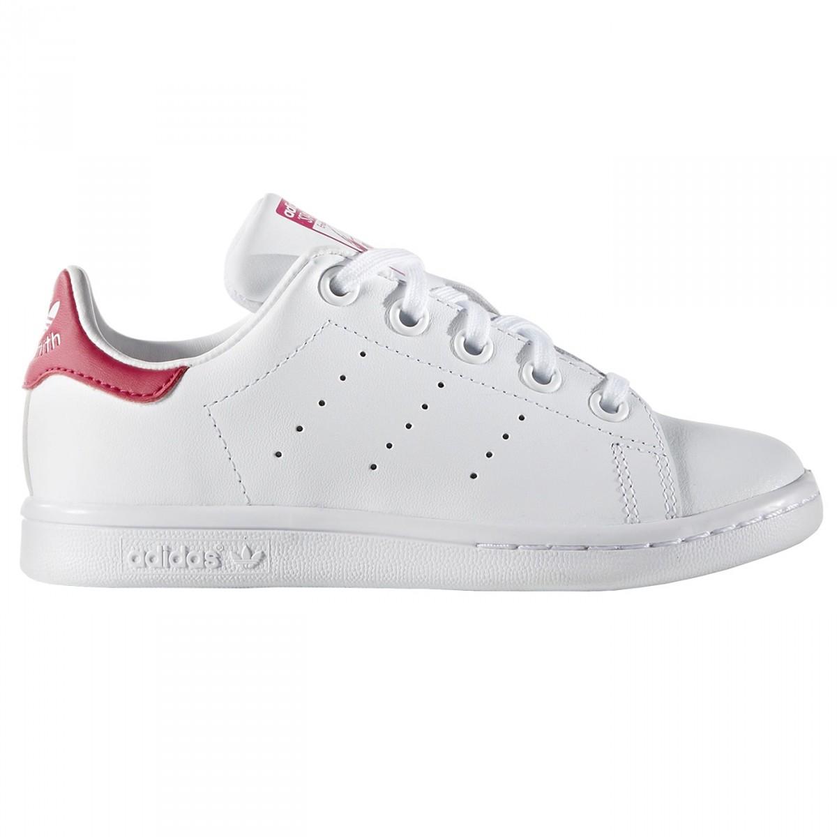Sneakers Adidas Stan Smith Girl bianco-rosa (28-32)