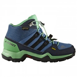Zapatillas trekking Adidas Terrex Swift Gtx Mid Niño verde-azul