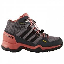 Zapatillas trekking Adidas Terrex Swift Gtx Mid Niña gris-rosa