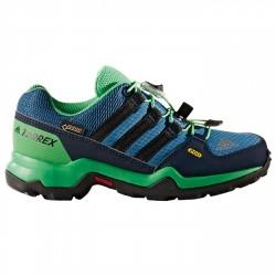 Zapatillas trekking Adidas Terrex Gtx Niño verde-azul