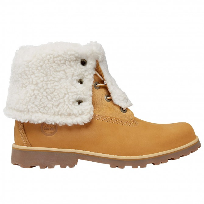 Botas Timberland Authentics 6-Inch Shearling Niño beige (36-39)