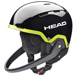 Casco esquí Head Team SL + protector de barbilla negro