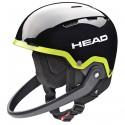 Casco esquí Head Team SL + protector de barbilla negro