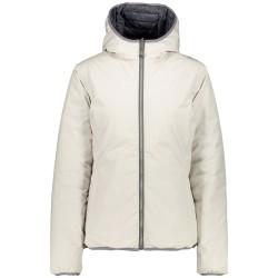 Chaqueta de pluma con capucha Cmp Mujer blanco hielo
