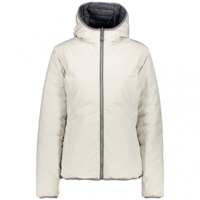 Hooded down jacket Cmp Woman ice white