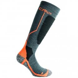 Calze sci Cmp Wool nero-arancione