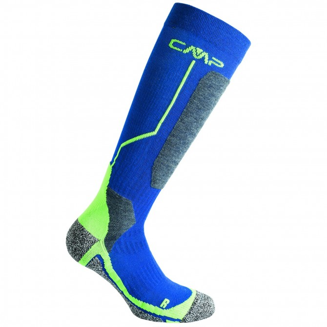 Calcetines esquí Cmp Wool Niño azul-verde