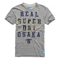t-shirt Super Dry Real homme