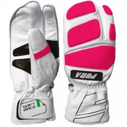 Ski mittens Energiapura Soft Race white-pink