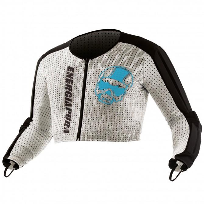 Maglia Energiapura Racing con protezioni turcese-bianco-nero tesch
