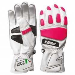 Ski gloves Energiapura Soft Race white-pink