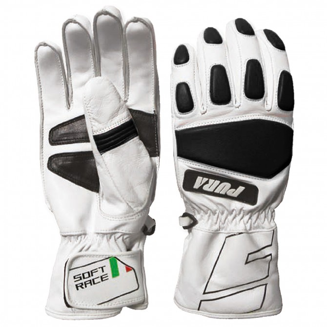 Ski gloves Energiapura Soft Race white-black