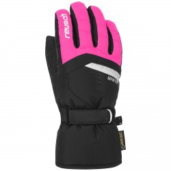 Guantes esquí Reusch Bolt Gtx Junior negro-rosa