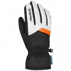 Guantes esquí Reusch Bennet R-Tex® XT Junior blanco-naranja