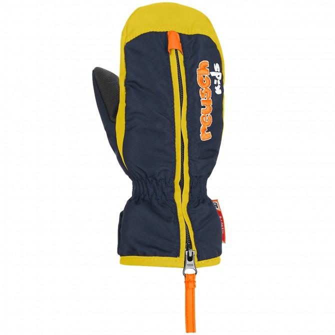 Ski mittens Reusch Ben Baby blue-yellow