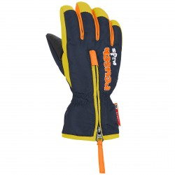 Ski gloves Reusch Ben Baby blue-yellow